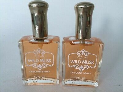 VINTAGE WILD MUSK By COTY PFIZER Perfume Women 1 oz COLOGNE SPRAY (Lot of 2)  Coty Wild Musk Perfume