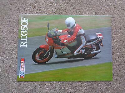 RARE GENUINE ORIGINAL YAMAHA RD350F MOTORCYCLE SALES BROCHURE  RD350LC