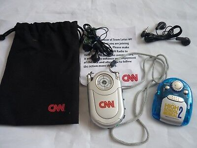 Promotional promo only radios radio headphones 2 pack can high school musical