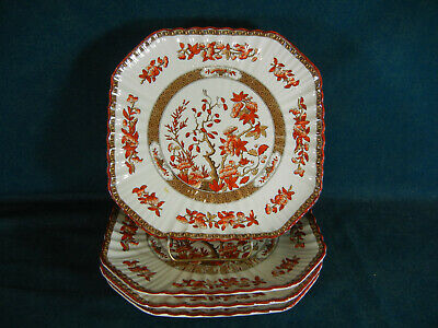Copeland Spode India Tree Discounted Set of 4 Square Luncheon Plates