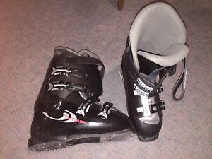 Ski parabolique salomon kit botte -battons