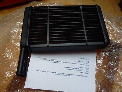 Ford Escort Mk2 heater matrix radiator. Ford Capri. UK Made, All metal.