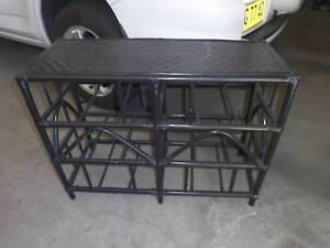 vintage rattan stand