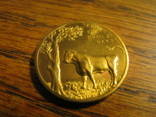 Zodiac Coin  Taurus  Lucky Numbers 3 & 9  Lucky Day Friday     Lot# C KL 7