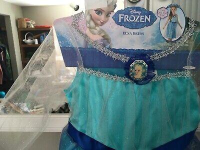 Girls Kids Frozen Princess Elsa Halloween Costume Dress. Size 4 to 6x