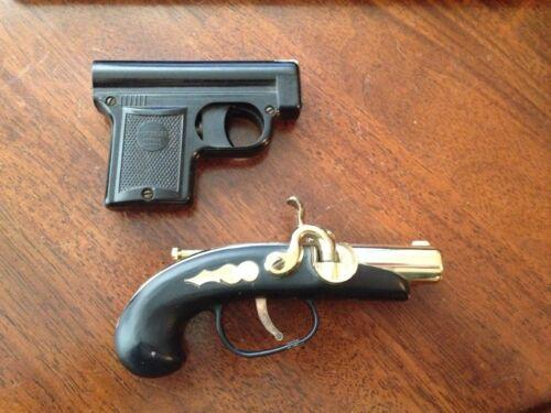 VINTAGE GUN PISTOL FLINTLOCK SHAPED CIGARETTE  LIGHTER LOT ONE FRENCH MADE RARE