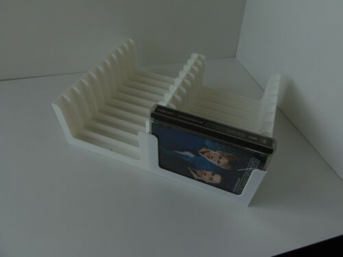 White MiniDisc tray (Holds 20 discs in prerecorded cases) storage/stand/rack/box