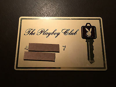 Playboy Club 1970's vintage metal Key card