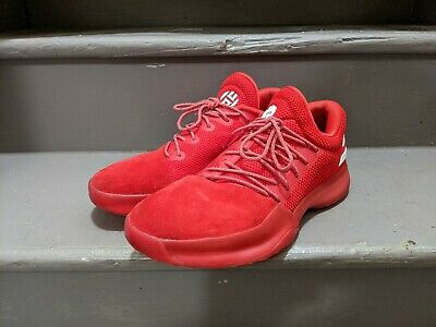 Adidas Harden Vol 1 Scarlet Red Used 9/10 Men's size 9 White Free Shipping James