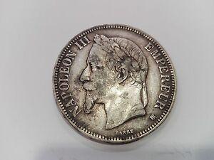5 Franchi argento Napoleone III - 1869 - NR 8 - Italia - L'oggetto può essere restituito - Italia