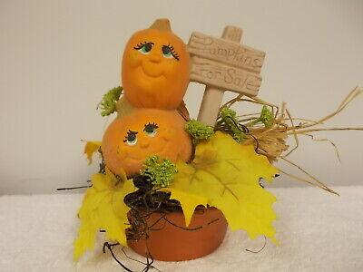 Vintage Pumpkins For Sale Leaves Ceramic Halloween Fall Decoration Cute