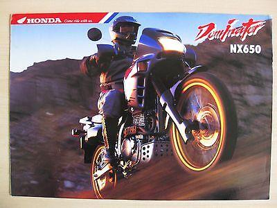 Honda NX650 Dominator UK Sales Brochure (1993)