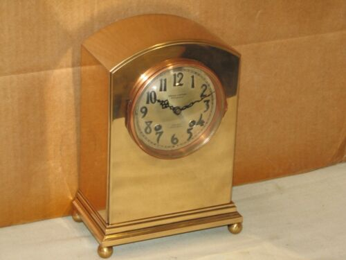 CHELSEA ANTIQUE SHIPS BELL CLOCK~SHERATON MODEL~ 4 IN DIAL~1917~RESTORED