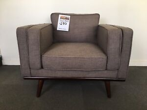 Stunning Charcoal Grey Fabric Designer Armchair -FACTORY SECOND Epping Whittlesea Area Preview