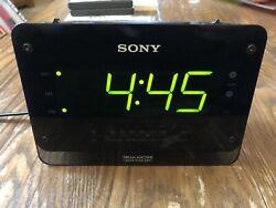 Sony Dream Machine Digital Clock Radio Dual Alarm FM / AM LED ICF-C414