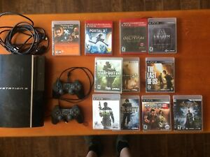 PS3 with games & 2 controllers. $160 OBO