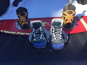 Wake board/ 2 pair of boots.