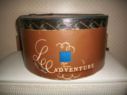 """Vintage Lee """"Adventurer"""" Oval Hat BoxFifth Ave~New York~ Water Bloc~14""""x12 1/2"""""""
