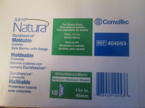 "NIB - 10 ConvaTec 404593 Moldable Convex Skin Barrier w/Flange 45mm 1 3/4""  NEW"