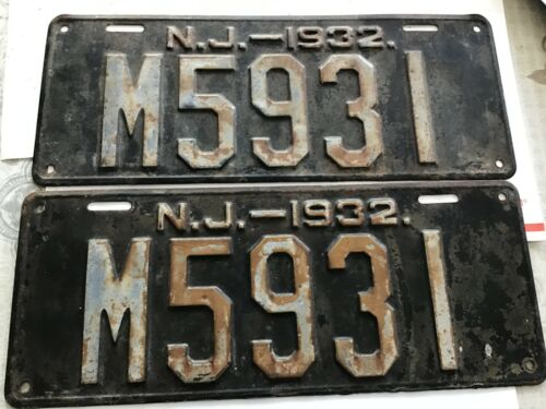 1932 New Jersey PAIR OF 6