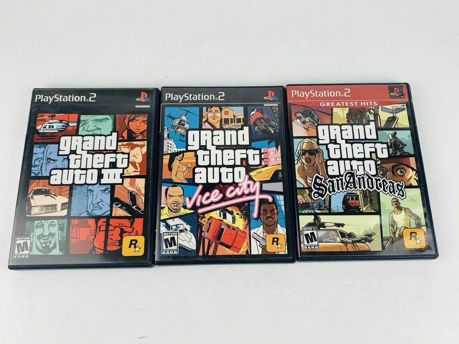 Grand Theft Auto Trilogy PlayStation 2 PS2 Vice City San Andreas WITH MAPS  - $29.99