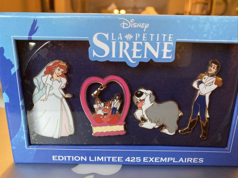 Set 4 Pin  DISNEY EVENT Disneyland PARIS LITTLE MERMAID Ariel  LIMITED EDITION