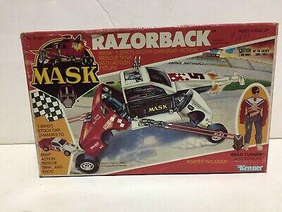 RAZORBACK - T-Bird Stock Car / Rescue Tank w/figure- MASK Kenner 1985 MIB unused