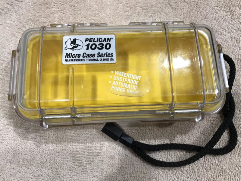 Pelican 1030 Micro Case (Clear And Yellow)
