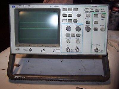 Hp Hewlett Packard 54603b Oscilloscope 60 Mhz