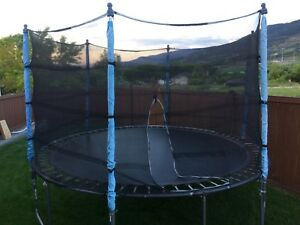 Trampoline with netting