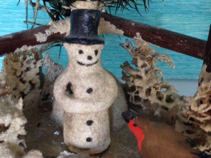 Antique German Snowman
