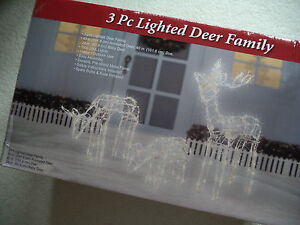 Lighted ANIMATED CHRISTMAS REINDEER/DOE/BABY DEER (40