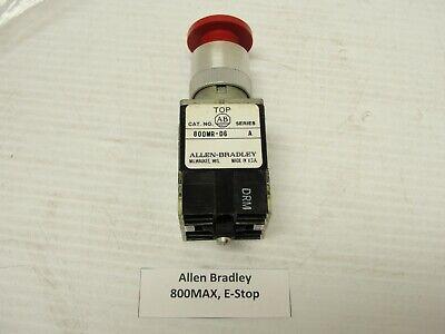 Allen Bradley E-stop Button 800mr-d6 W 2 800m-ax Contact Blocks N.o.n.c.