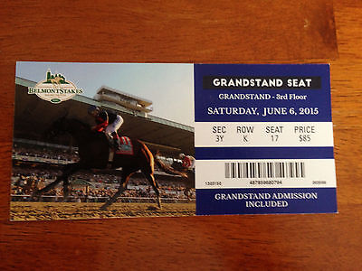 2015 BELMONT STAKES GRANDSTAND ADMISSION TICKET MINT CONDITION AMERICAN PHAROAH