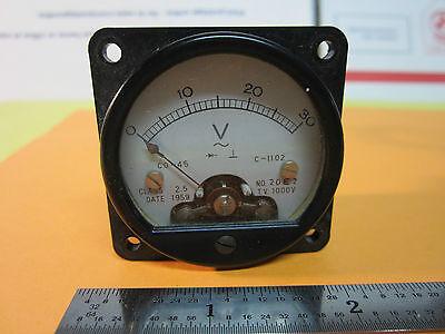 Voltmeter Gauge Dial From 1959 Vintage Voltage Meter Bin24