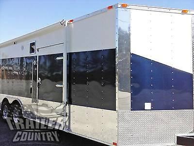 New 2021 8.5 X 24 V-nose Enclosed Cargo Car Hauler Trailer Loaded Race Package 3