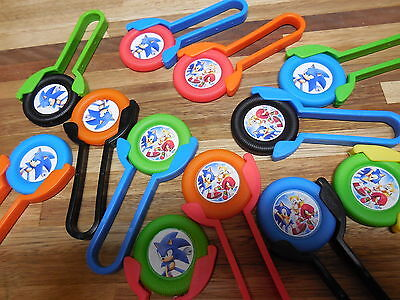 12 SONIC THE HEDGEHOG SHooters~ themed birthday party favor treat, kids toy  - Sonic The Hedgehog Birthday