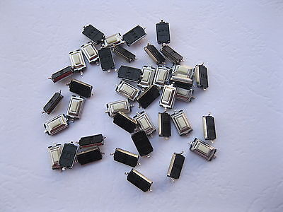 100 Pcs Momentary Tact Smd Tactile Pushbutton Micro Switch 2 Pin 3x6x2.5mm New
