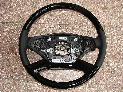 1 mercedes lenkrad  w216  AMG  w221 s klasse steering wheel designo holz CL neu