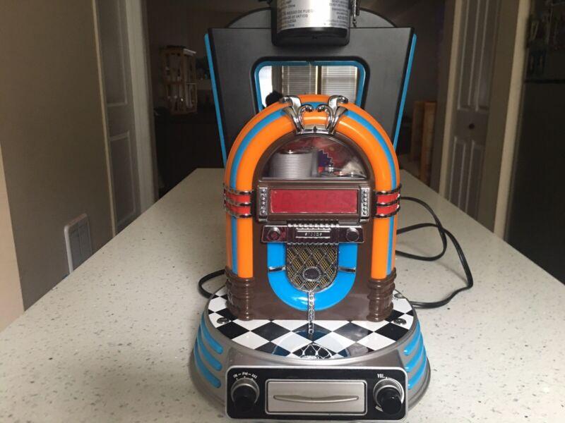 Retro Jukebox Lamp With | Clock | Radio iPod Dock Station & Neon Lights