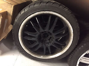 """18"""" wheels with tires from a Audi A4"""