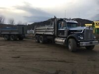 Graval truck dump truck and pup for hire