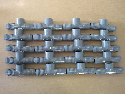 Lot Of Twenty 20 Lasco 1 Insert X 34 Pvc Insert Combination Tee 1402-131