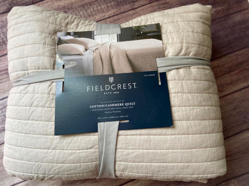 Fieldcrest Pebble Cotton Cashmere Quilt Size Full/ Queen - Pebble