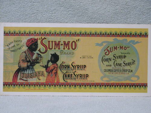 SUM-MO Corn Syrup and Cane Sugar New Orleans Large Past Card