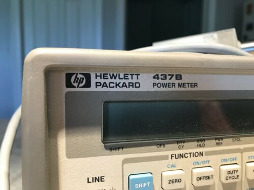 HP Keysight 437B Power Meter with 8482A Power Sensor  & 11730A Cable