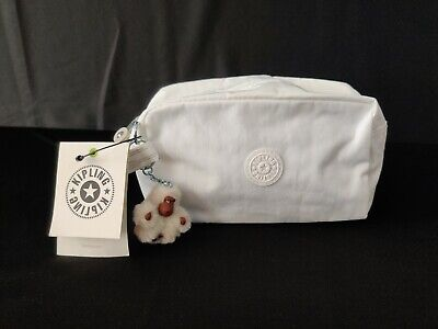 NWT Kipling Gleam Cosmetics Case pencil case in Alabaster Tonal (MSRP $29) Wht.