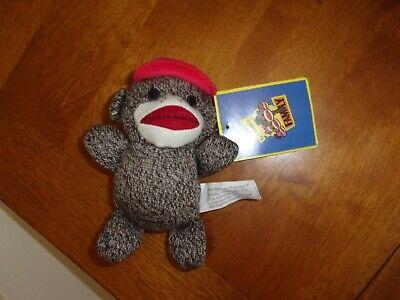 Sock Monkey Family Plush Stuffed Animal  Brybelly Holdings blue hat 6.5