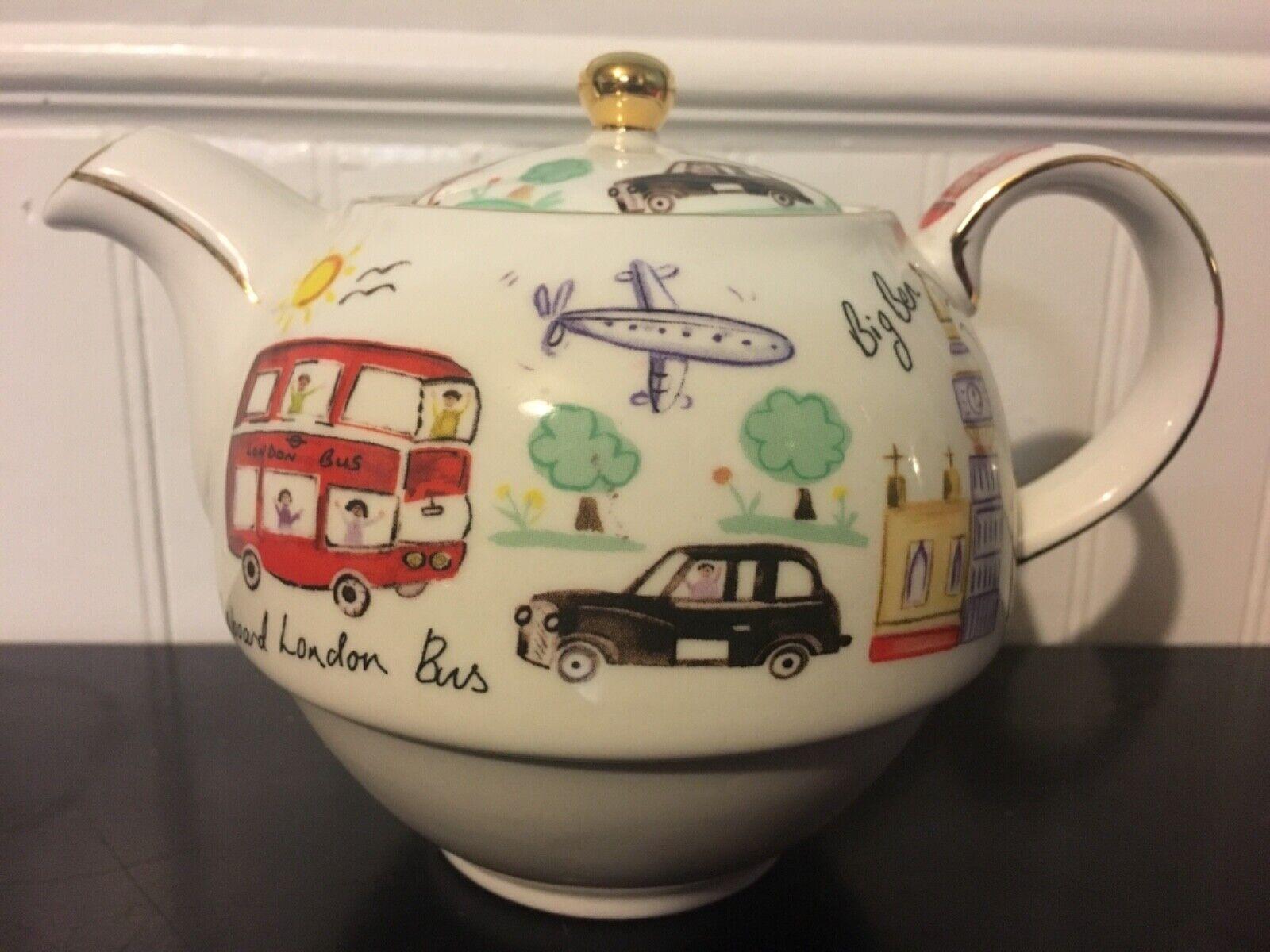 James Sadler London Travel England Guards Porcelain Teapot  - $24.99