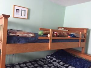 Kids bed and mattress . Barely used.